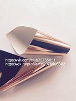 Фольга для ногтей золото розовое глянец