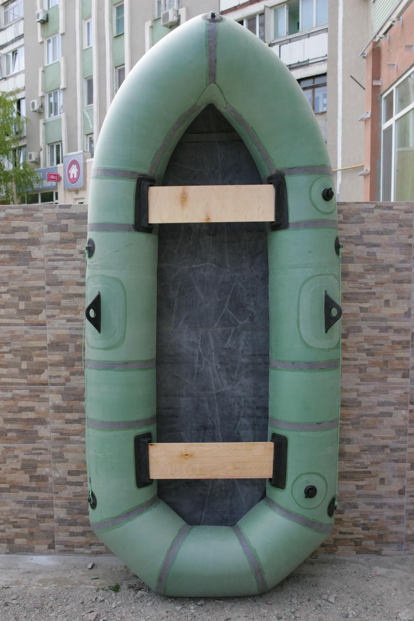 Лодка резиновая надувная двухместная Дельфин-Гигант