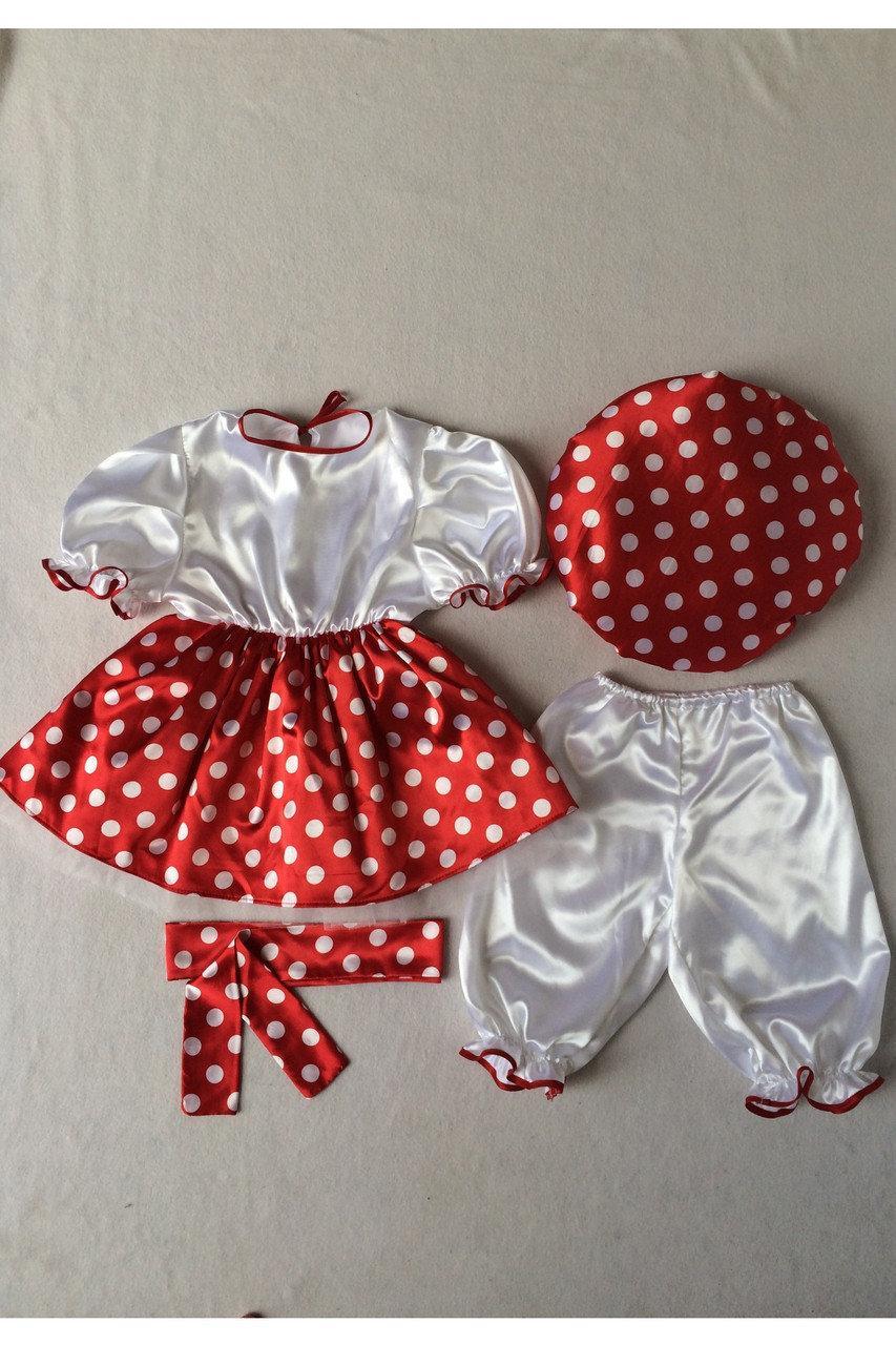 Детский карнавальный костюм Bonita Мухомор №3 (девочка) 95 - 110 см Красный