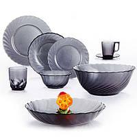 Сервиз Luminarc TRIANON GRAPHITE 43 пр., набор посуды, большой набор тарелок Люминарк