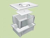 Емкость-контейнер  для дезинфекции и предстерилизационной обработки мед. изделий ЕДПО-1-01 (1 литр)