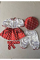 Детский карнавальный костюм Bonita Мухомор №3 (девочка) 105 - 120 см Красный, фото 1