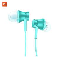 Качественные оригинальные наушники-вкладыши Xiaomi проводные HiFi Stereo 3,5 mm с микрофоном (голубой)