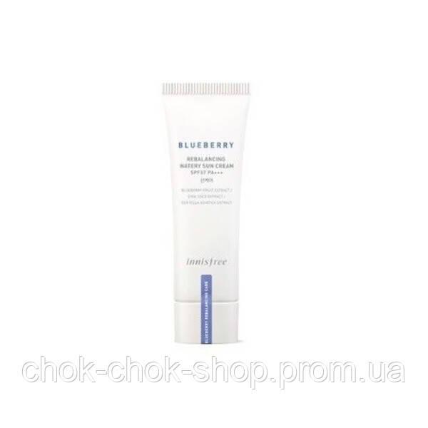 INNISFREE Blueberry Rebalancing Watery Sun Cream SPF37 PA+++ Балансирующий солнцезащитный крем