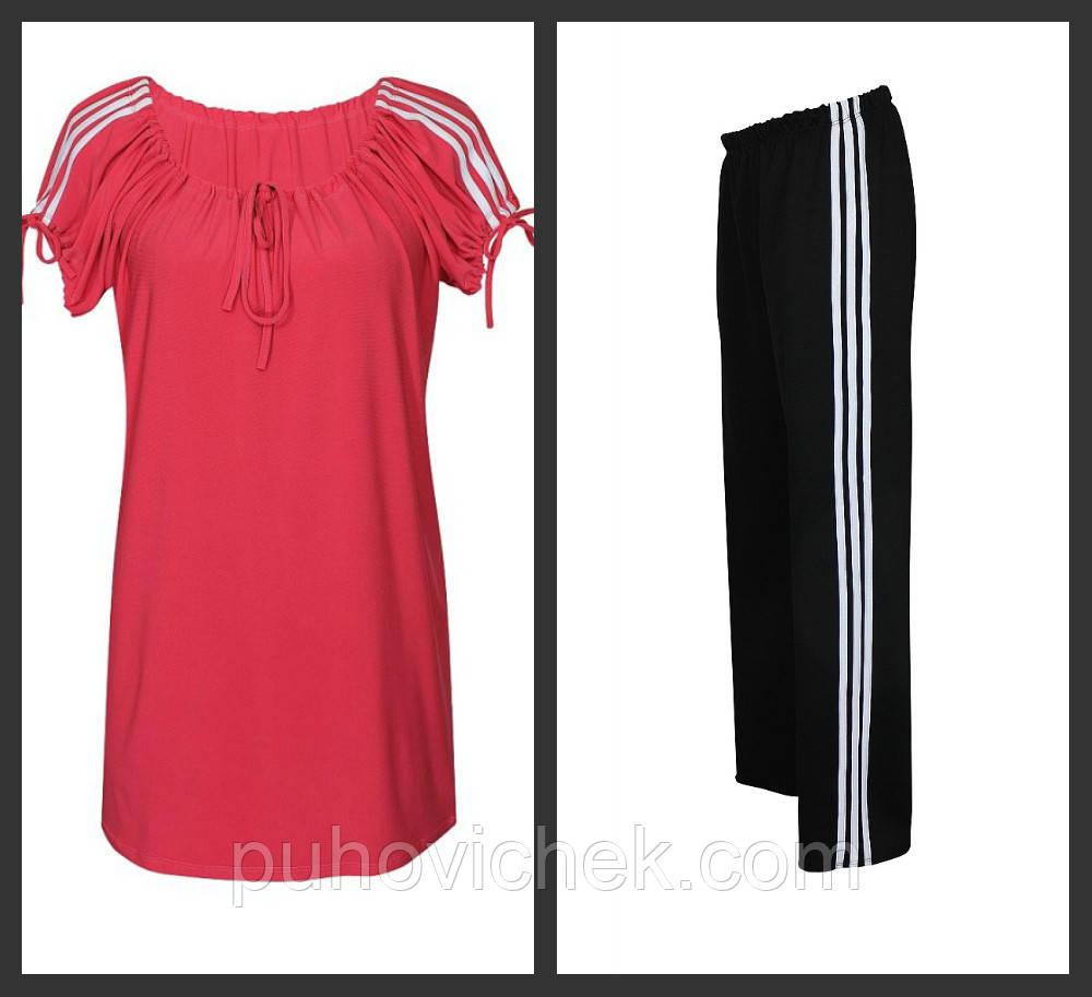 Женский костюм спортивный  летний больших размеров