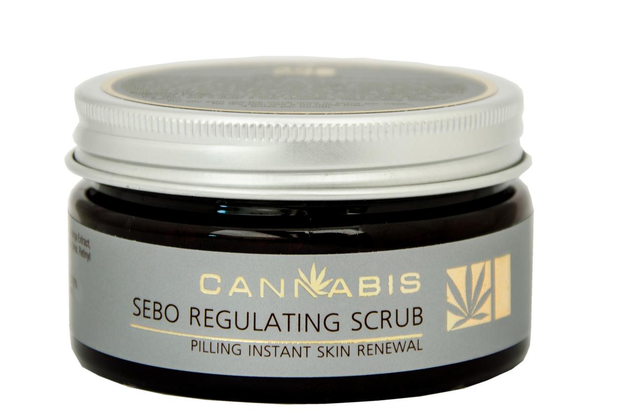 Скраб для лица очищающий и себорегулирующий с экстрактом каннабиса SEBO REGULATING SCRUB 100 мл