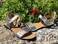 Босоножки женские без каблука кожаные Ko0025