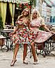 Костюм Doratti Cuba топ из шифона и юбка пышная с рюшами яркий цветочный принт Кdor1066
