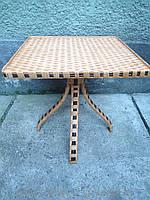 Стол журнальный плетеный квадратный