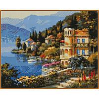 Картина из страз Цветущее побережье 40Х50см Babylon ST019