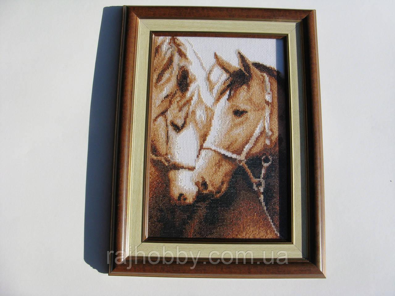 Картина вышитая крестиком Верность (Лошади) вышивка крестом