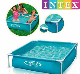 Детский каркасный бассейн 57173 Intex Mini Frame Pool 122x122x30, для детей, для дачи, семьи