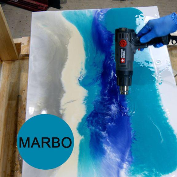 Голубой небесный краситель пигмент для смол Марбо Marbo (Италия), 15 мл, концентриров.