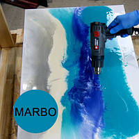 Голубой небесный краситель пигмент для смол Марбо Marbo (Италия), 15 мл, концентриров., фото 1