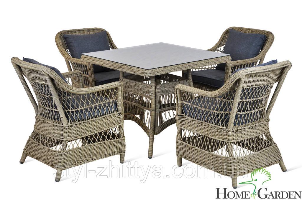 "Садові меблі ""Алабама"" Стіл +4 крісла"