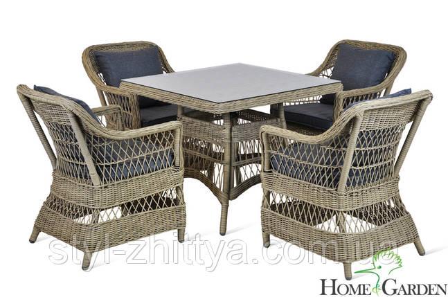 """Садові меблі """"Алабама"""" Стіл +4 крісла, фото 2"""