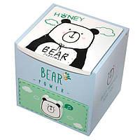 """Шкатулка  детская """"Bear"""" розовая, деревянная Размер: 11-11-11 см."""