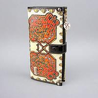 Кошелек Velina Fabbiano vf-1051-6625 разноцветный кожаный на кнопке, фото 1