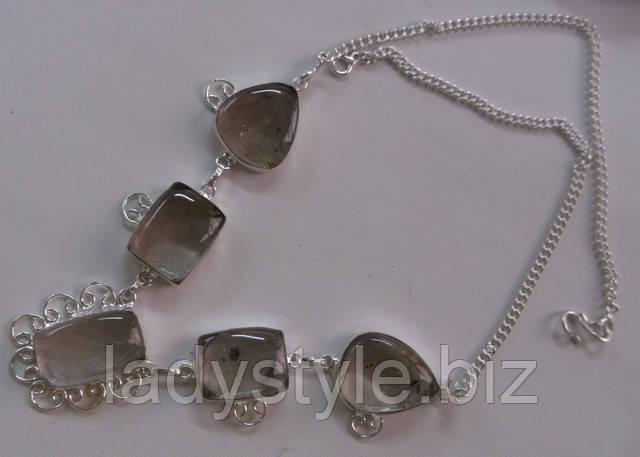 купить украшения из волосатика ожерелье колье натуральный рутиловый  кварц