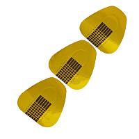 Формы широкие для наращивания ногтей (золотые) 20шт/уп.Формы широкие для наращивания ногтей (золотые) 20шт/уп.