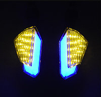 Комплект світлодіодних поворотів для мотоцикла, LED поворот, покажчик поворотів Синій
