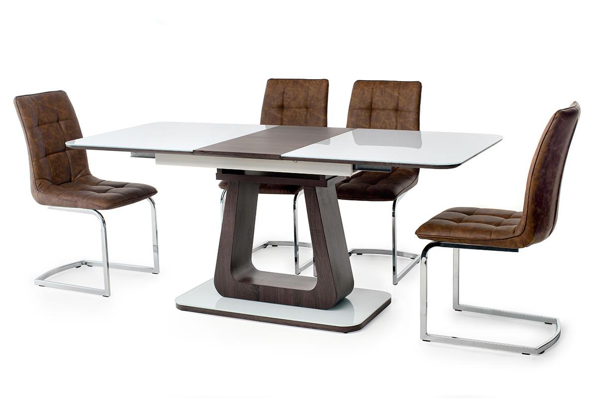 Стол МДФ+стекло ТМL-521 белый+венге Ветро