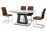 Стол МДФ+стекло ТМL-521 белый+венге Ветро, фото 5