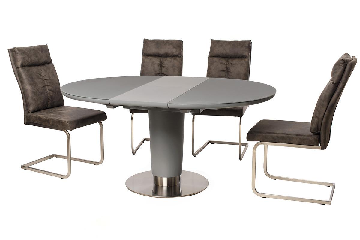 Стол МДФ + матовое стекло TML-518 серый