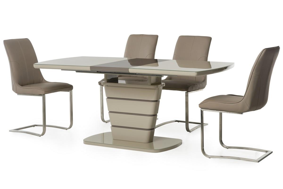 Стол МДФ+стекло TM-59 капучино-латте
