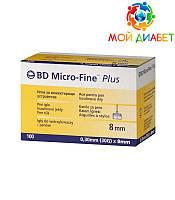 Иглы для шприц-ручек BD Micro-Fine + «МикроФайн» 8 мм 100 шт. (5 упаковки)