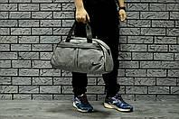 Спортивная сумка Nike стильная модная вместительная, цвет серый меланж, фото 1