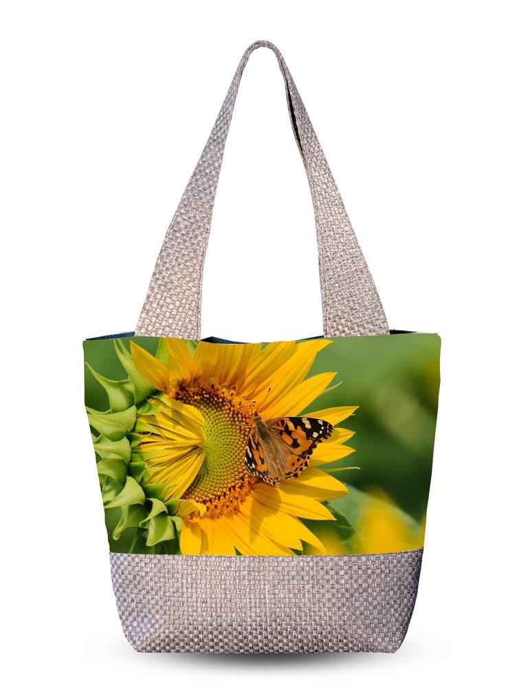 Сумка женская с 3D рисунком Цветок солнца