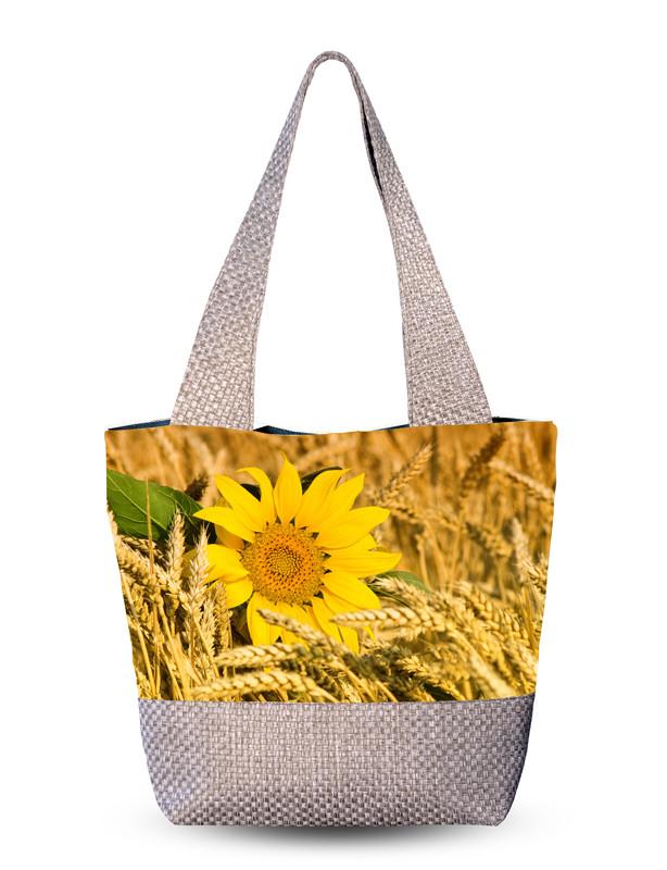 Сумка женская с 3D рисунком Сонях в пшенице