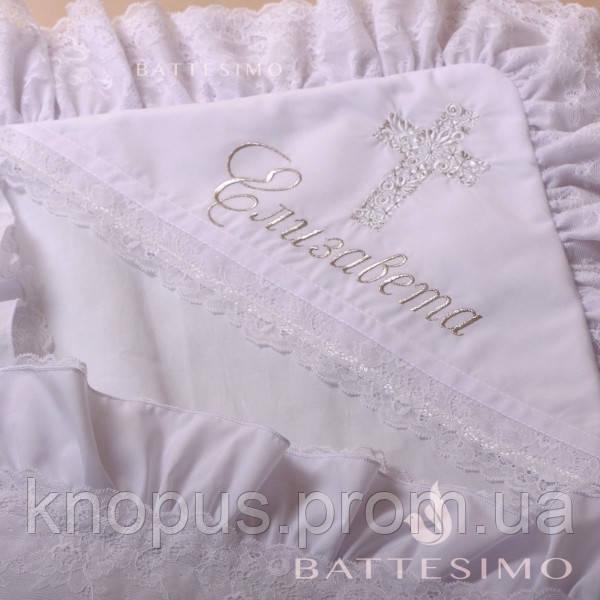 Вышивка имени на крыжме или рубашке (шрифт MonAmour) - без стоимости крыжмы, MIMINO BABY