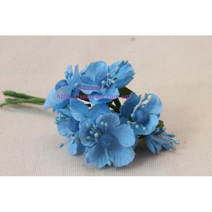 Цветы яблони маленькие ,  голубые    60 шт