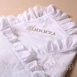 """Вышивка имени - крестника  на крыжме или рубашке (шрифт """"barocco"""") , MIMINO BABY"""