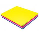Блок бумаги для заметок Buromax Neon 76х76 мм, 4 цвета*25 шт, ассорти, фото 2