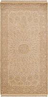 Иранский ковёр ручной работы с шёлковым объёмным орнаментом. Шутри 3d. Шерсть + Шёлк. Размер 1440 х 750мм.
