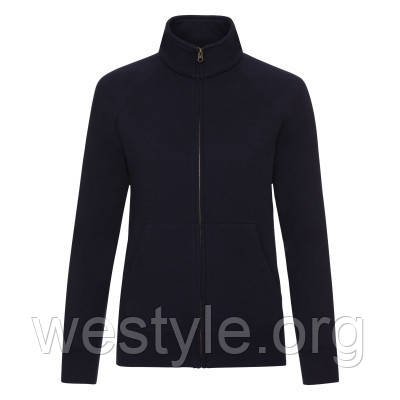 Куртка-толстовка женская - 62116-AZ глубокий темно-синий