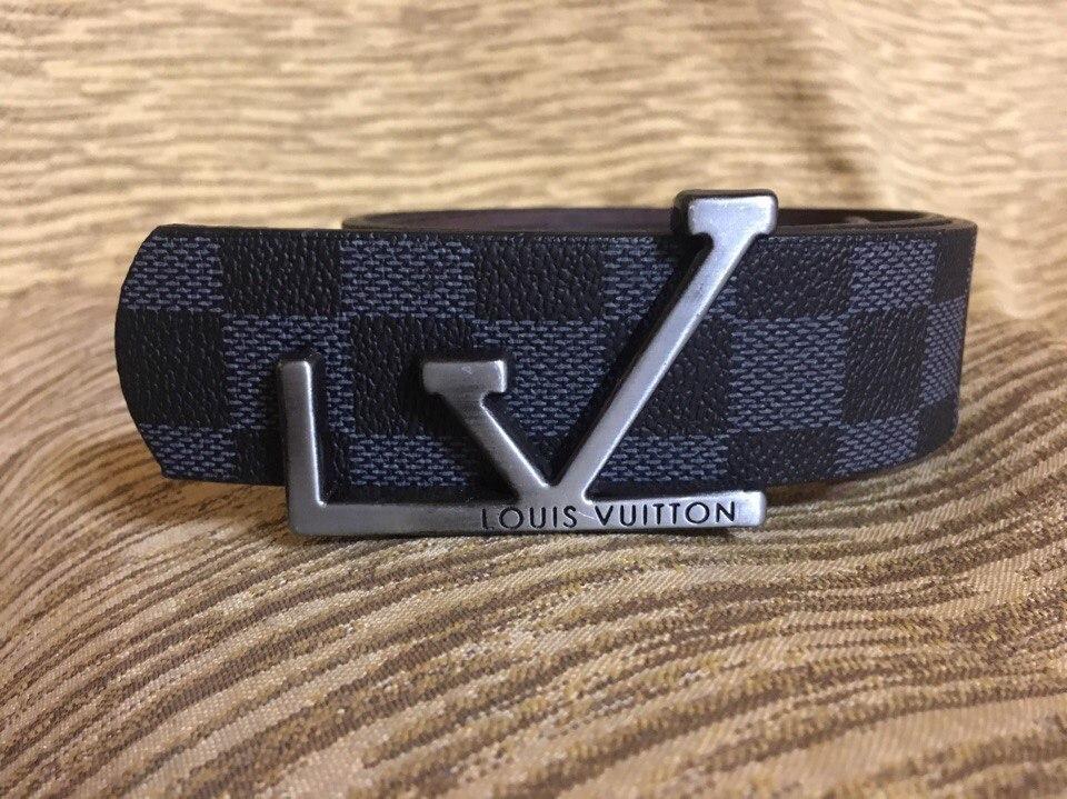 Ремень  пояс Louis Vuitton Black Casual (копия Луи Витон) black