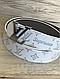 Универсальный белый Ремень  пояс Louis Vuitton SUPREME White S (копия Луи Витон), фото 3