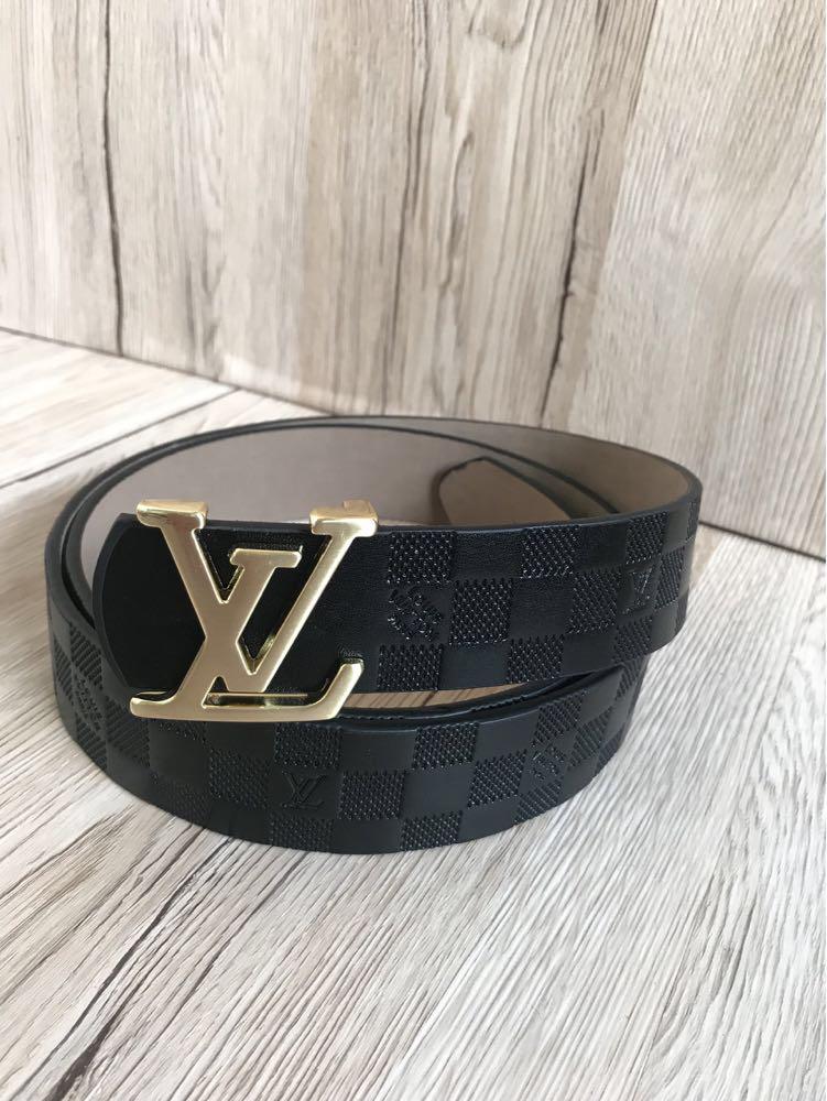 Мужской Ремень  Louis Vuitton Space Black (копия Луи Витон)