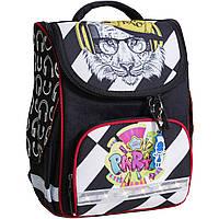 Рюкзак школьный каркасный с фонариками Bagland Успех 12л (5513 черный 175k)