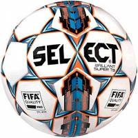 Мяч футбольный SELECT Brillant Super FIFA TB бело/синий, размер 5