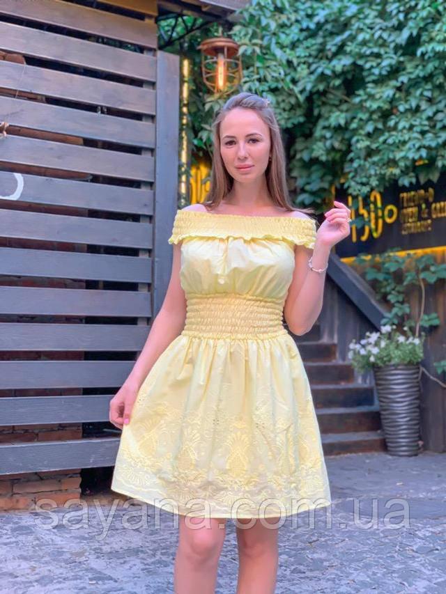 женское платье из прошвы