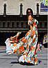 Летнее длинное женское платье в пол