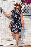 Платье женское лето 090 большой размер (50 52 54 56) СП
