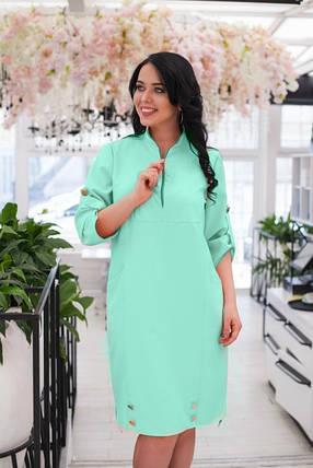 Нежное женское платье ткань *Костюмная* 48 размер батал, фото 2