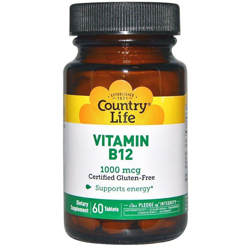"Витамин В-12 Country Life ""Vitamin B12"" 1000 мкг (60 таблеток)"