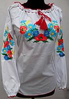 Жіноча вишиванка вишита квітами опт 230 грн, фото 1